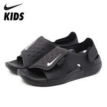 44ac09a8ba NIKE SUNRAY ajustar niños Original 2019 nueva llegada niños sandalias  gancho y lazo zapatos de playa