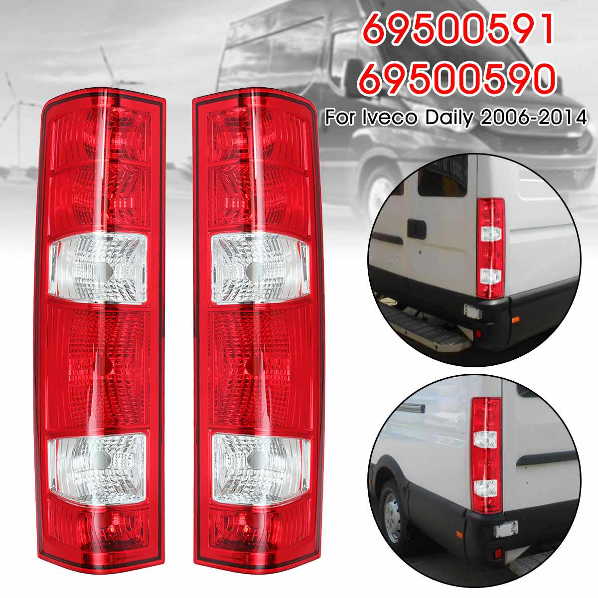 Rear Right Left Tail Brake Light Brake Signal Lamp For Iveco Daily 2006 2014 69500590 69500591
