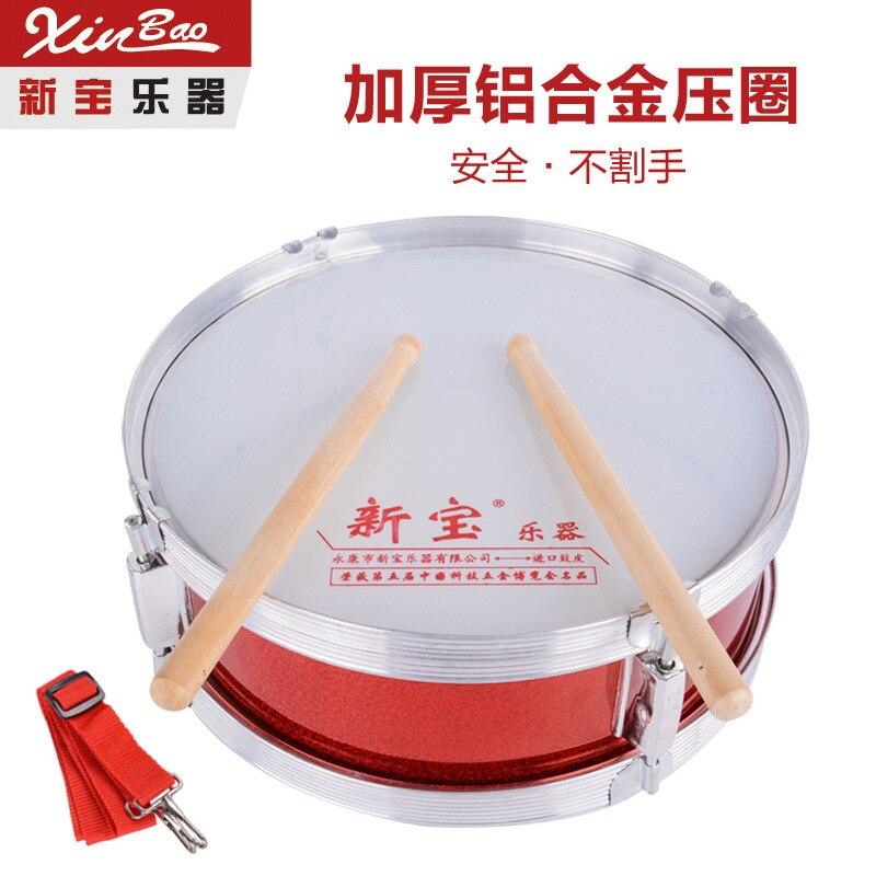 Nouveau précieux petit caisse claire 8 pouces étudiant équipe Tabour Instruments de musique Double ton batterie percussions accrocher favori
