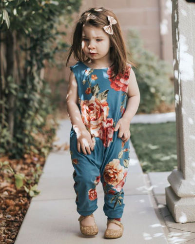 2019 Brand New Newborn Toddler Infant Baby Girl Flower Romper Jumpsuit Harem Playsuit Outfits Clothes Sleeveless Summer Sunsuit