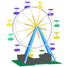 15012 2518 шт город Expert модель колесного обозрения строительные Конструкторы кирпичи Забавные игрушки kompatilbel 10247 для детей