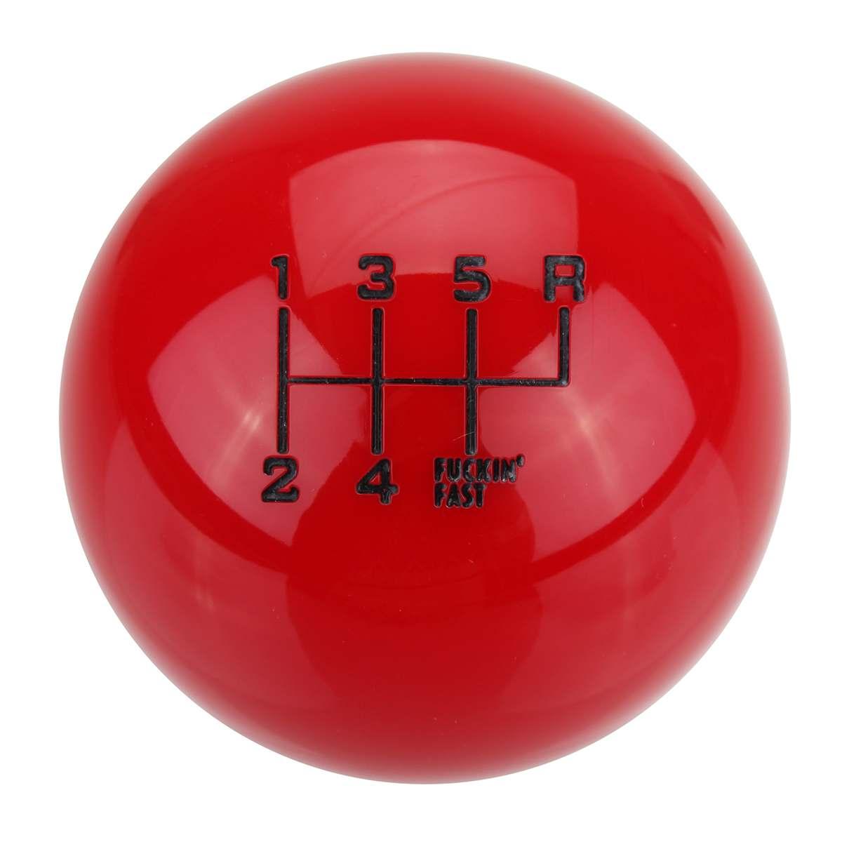 Universal 6 Speed Car Manual Round Ball Gear Shift Knob Ball Short Throw Shifter Lever Black