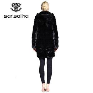 Image 5 - אמיתי פרווה מעיל נשים בתוספת גודל טבעי מינק פרווה מעיל עם ברדס נשי ארוך אמיתי מינק מעילי גבירותיי וינטג Oversize בגדים