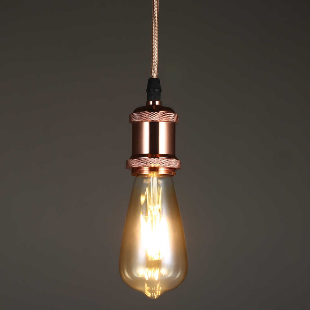 Новое поступление Винтаж свет Ретро E26/E27 алюминиевый держатель лампы + ТЕКСТИЛЬНЫЙ ШНУР + железное основание потолочные освещения для фотосъемки