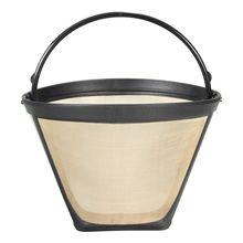 NEW-1PC Перманентный многоразовый#4 конусный фильтр для кофе сетчатая корзина из нержавеющей стали легко моющийся многоразовый Перманентный кофейный фильтр