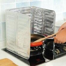 1pc Oil Barrier Stove Cooking Heat Insulation Anti Splashing Baffle Kitchen Utensils Supplies Aluminum Foil Block