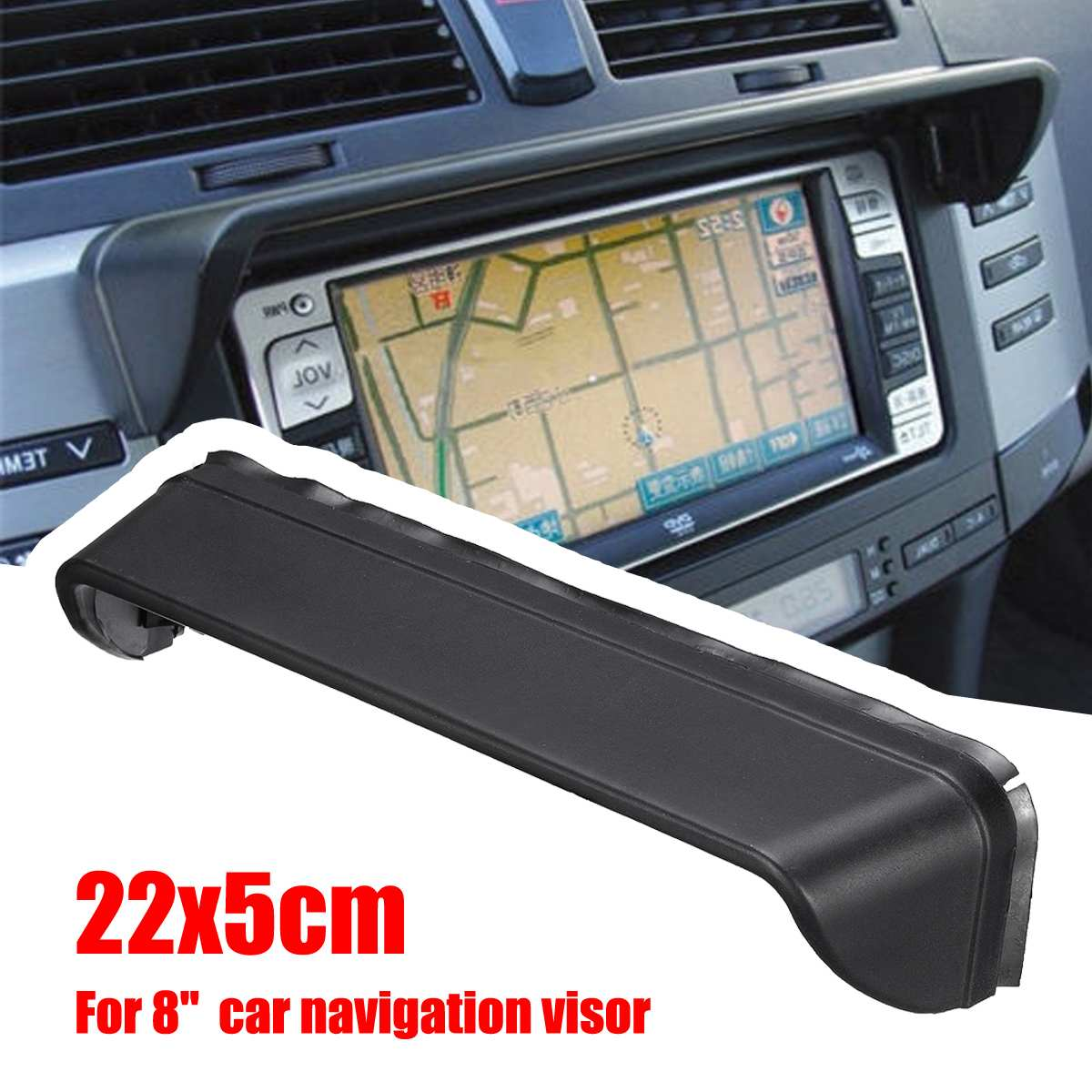UK ~ Universal Anti-Glare In Dash Car Radio GPS Screen Monitor Sun Shade Visor