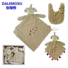 DALEMOXU  Baby Bibs Neck Scarf Winter Rag Doll Cartoon Drool Slab Cute teething Things Bib For Newborn Set Feeding