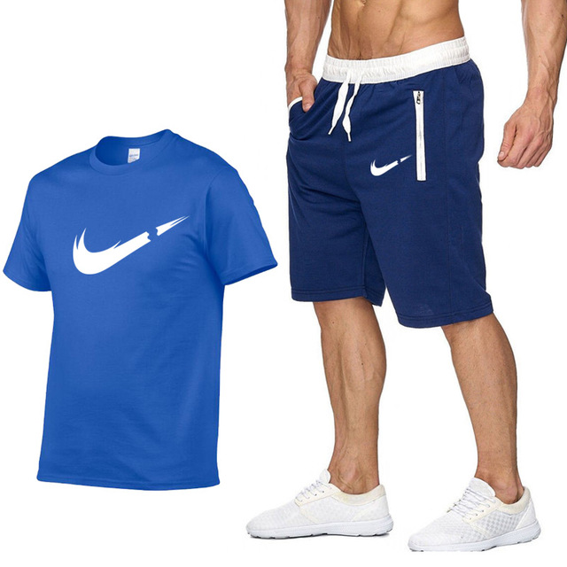 Tシャツ + ショーツセット男性レタープリント夏スーツカジュアル Tシャツ男性ブランド服 Streetwwar トップス Tシャツセット男性