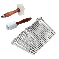 20Pcs Diy Leather Working Saddle Making Tools for Leather Craft Working + Wooden Handle Leathercraft Nylon Hammer Mallet Cowhi