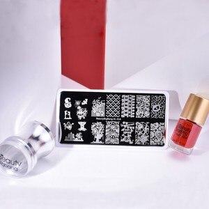 Image 5 - Beautybigbang Nail Stamping Plates Stainless Steel Strip Skull Flower Image Stamp Nail Art Carimbo De Unha Stamping Nail Art