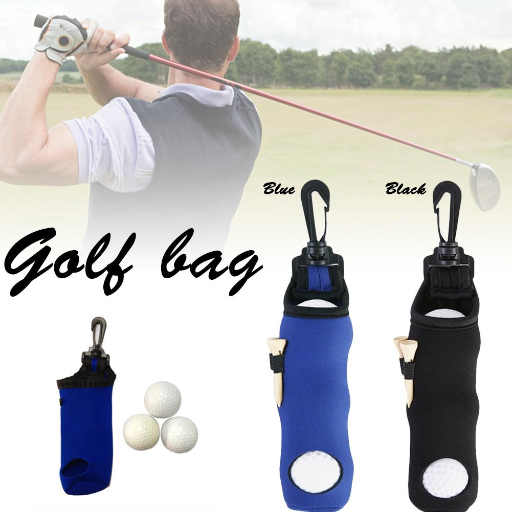 Portable Small Golf Ball Bag Golf Tees Holder Carrying Storage Case Neoprene Pouch Golf Products Supplies