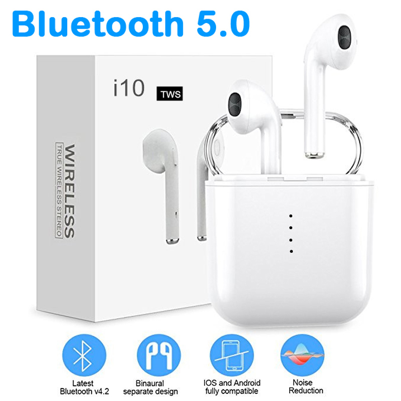 I10 TWS Earphone True Wireless Earphones Earbuds Sport for Phone Smartphone Gaming Headset VS i9s i9