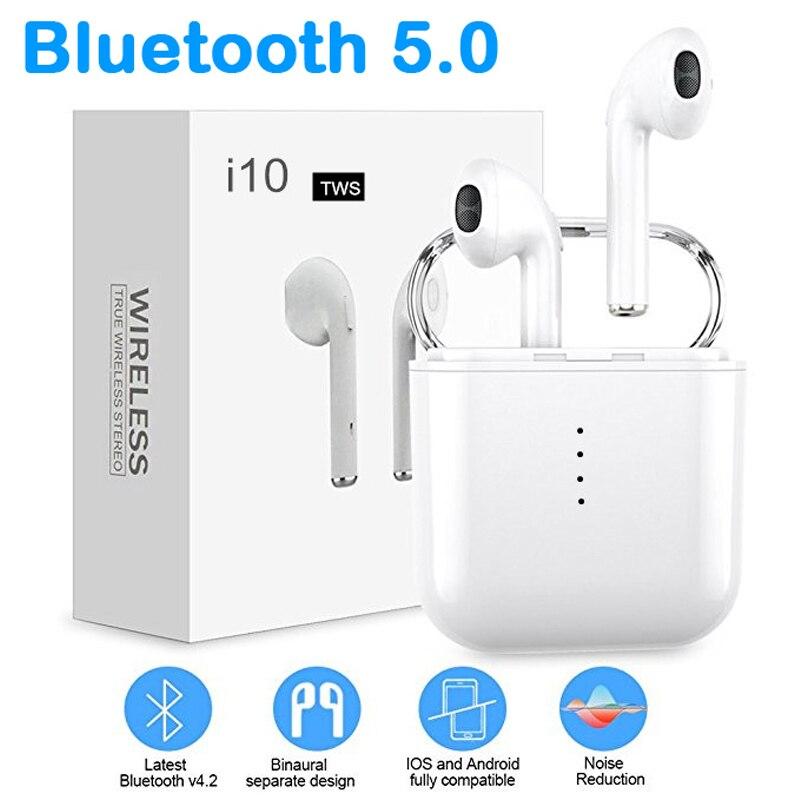 I10 TWS Écouteurs Vrai Sans Fil écouteurs, oreillettes Sport pour Téléphone Smartphone casque de jeu VS i9s i9 i7s i12 tws Tête téléphone