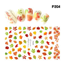 New Nail Art Sticker Decals Ink Flower 3d Stickers Big Flowers F Series Decorations Beauty Manicure Nails Tools