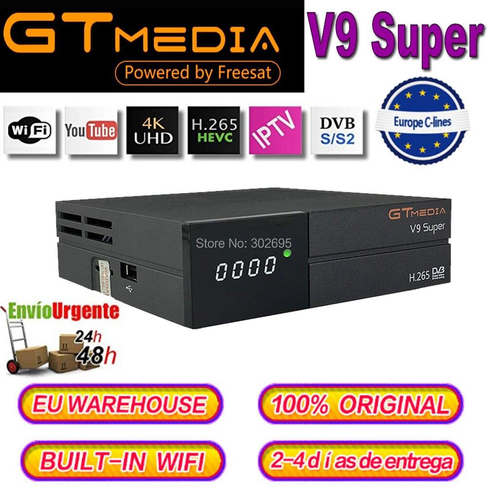 DVB S2 Receiver Gtmedia v9 Super receptor Europe Cccam spain for 1 year Cccam cline for