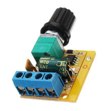 CLAITE Mini DC 4.5V To DC 35V 5A 90W DC Motor PWM Speed Controller Module Speed Regulator Adjustable Switch Dimmer NEW(China)