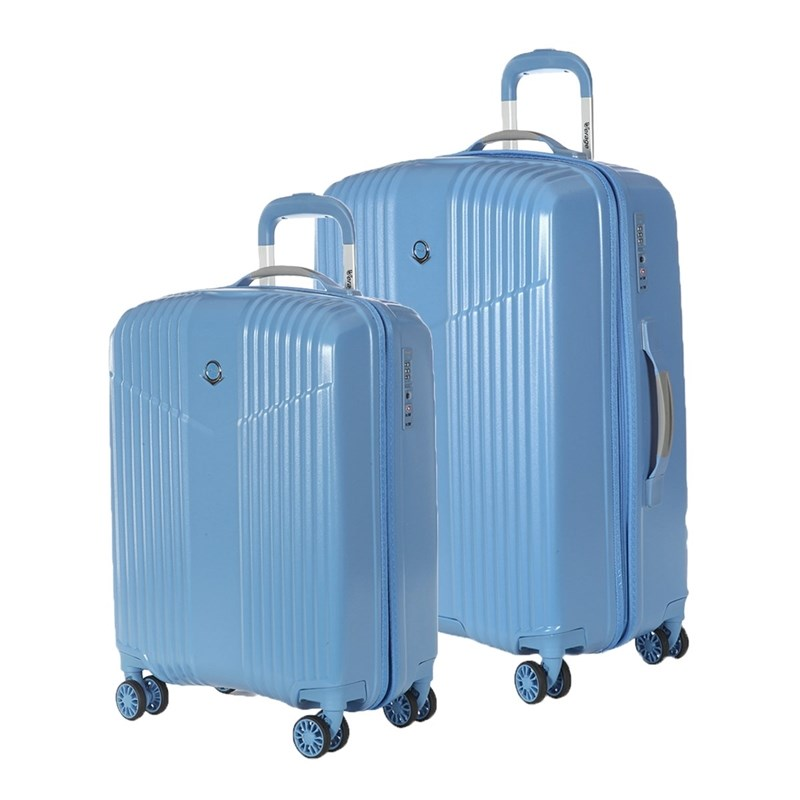 Set Suitcases Verage GM17072W 19/24 sky blue sky blue simple scoop neck front zip backless wide strap bikini set