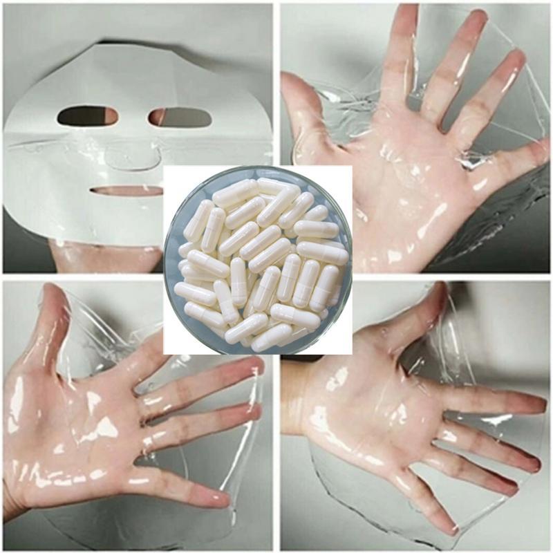 Collagen Active Peptide Crystal Mask Powder Hydrating Transparent Jelly Mask Anti Aging Rejuvenation Shrink Pore Capsule Mask 3