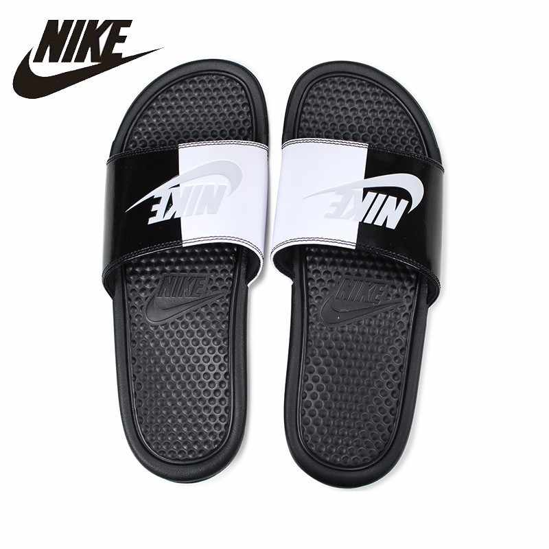 low priced 8407a 34bcf NIKE Benassi JDI Original Lovers Beach   Outdoor Sandals Footwear Super  Light Stability Support Sports Sneakers