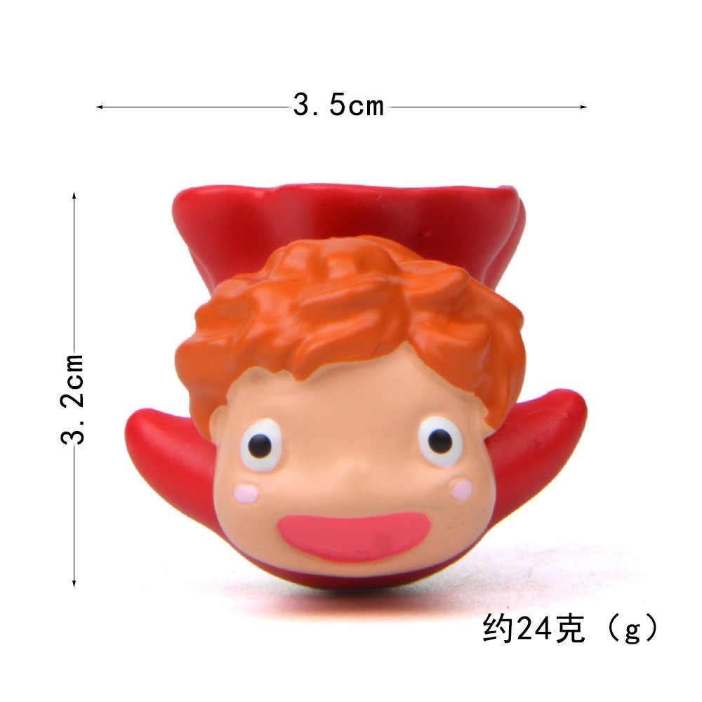 Voar Saco Modelo de Brinquedo Figuras de Ação Ponyo Ponyo On The Cliff Pouco Pet Shop Mini Brinquedo Animal Brinquedos de Peixe Para crianças