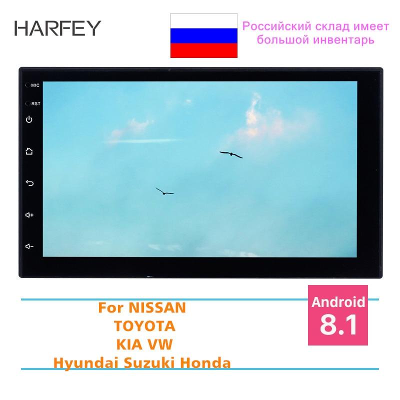 Harfey 2Din 7 Universal Radio bluetooth For NISSAN TOYOTA KIA VW Hyundai Suzuki Honda Android 8