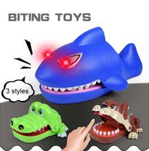 Bulldog Crocodile Shark Mouth Dentist Bite Finger Game Funny Gag Toy for Kids Children Play Toys YJS Dropship