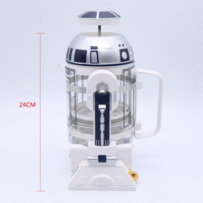 WSHYUFEI 960ml domu Mini Star Wars R2 d2 ręczny ekspres do kawy francuski wciśnięty dzbanek do kawy w Dzbanki do kawy od Dom i ogród na  Grupa 2