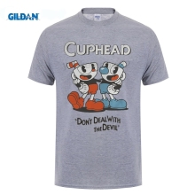 GILDAN Cuphead don't deal with the devil shirtsweatshirttank top Hip-Hop T-Shirt Short Sleeve Asian Size Mens