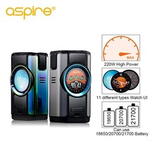 Electronic Cigarette Mod Aspire Dynamo 220W 510 thread Vape Box Support VW VV Bypass CPS TC TCR Modes with 2 inch TFT Screen