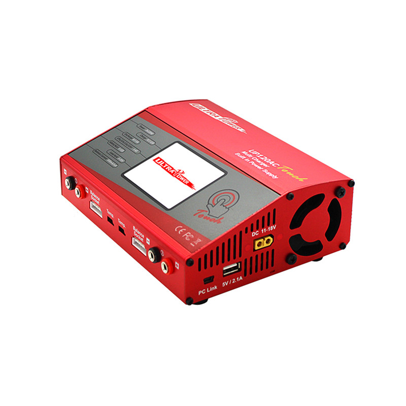 Power UP120AC Dual AC/DC 2X120W 2X10A Screen Balance Lipo Charger Discharger for 1-6S Lipo Battery RC Drone Models