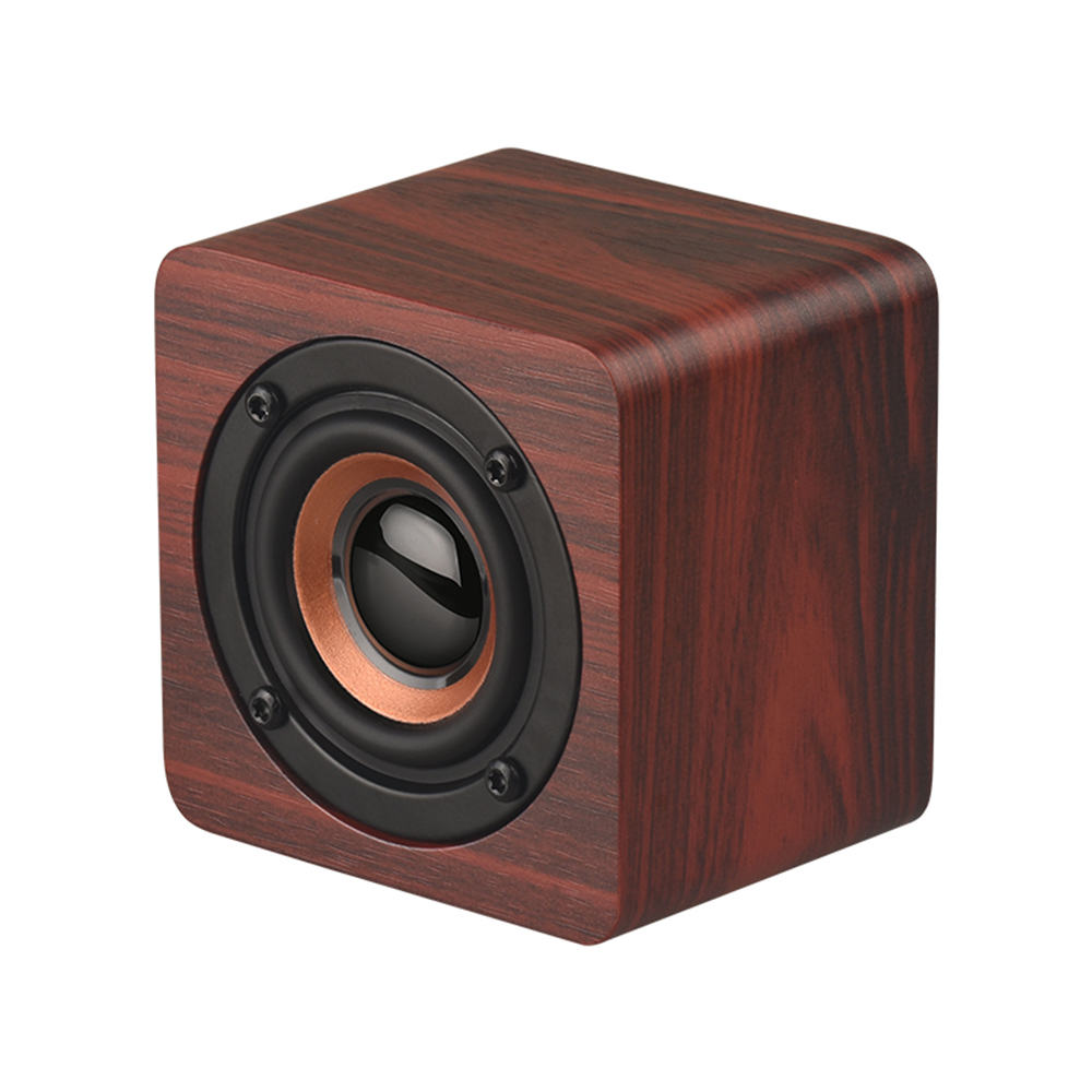 Speakers Q1 Mini Wooden Bluetooth Speaker Portable Wireless Speaker Subwoofer Bass Powerful Sound Box Music Magic Cube For Smartphone