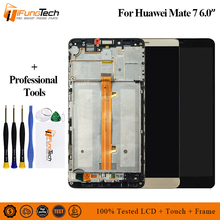 цена на For Huawei mate 7 LCD Display+Touch Screen Digitizer Assembly Replacement Parts Screen with Frame 6.0 For Huawei mate7 LCD