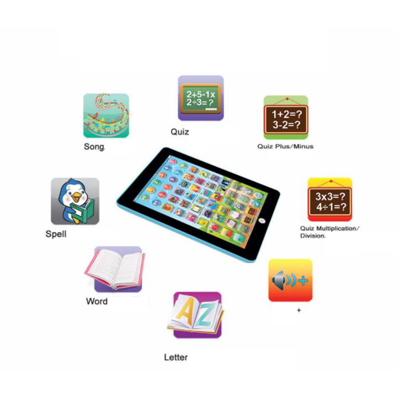 US $9 39 |New Tablet Pad Educational Learning Toys Intelligent Kids Early  Learning Tools Gift For Boys Girls Baby Children-in App Controlled Toys  from