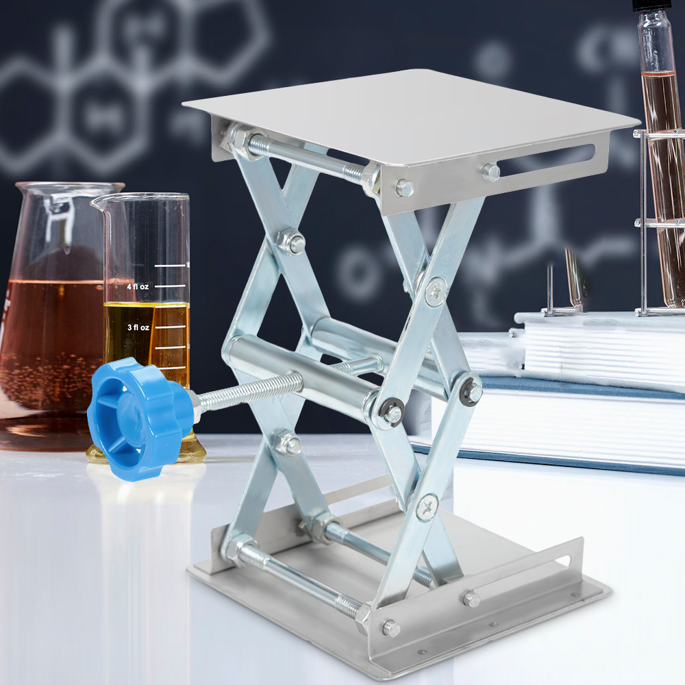 Stainless Steel Lifting Platform Stand Rack Scissor Lab Jack Adjustable Height Laboratory Lifting Platform Table Bench Lifter