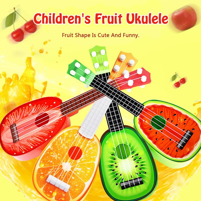 Kids Learn 4 String Fruit Style Guitar Ukulele Cute Mini Fruit Can Play Musical Instruments Kids Educational Present