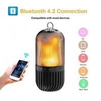 Portable Smart Bluetooth Speaker Table Lamp Led Waterproof Atmosphere Flame Light USB Wireless Bluetooth Speaker #5