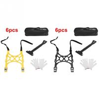 6pcs Car Snow Tire Anti skid Chains Wheel Antiskid Universal Winter Roadway Safety Tire Chain Snow Climbing Mud