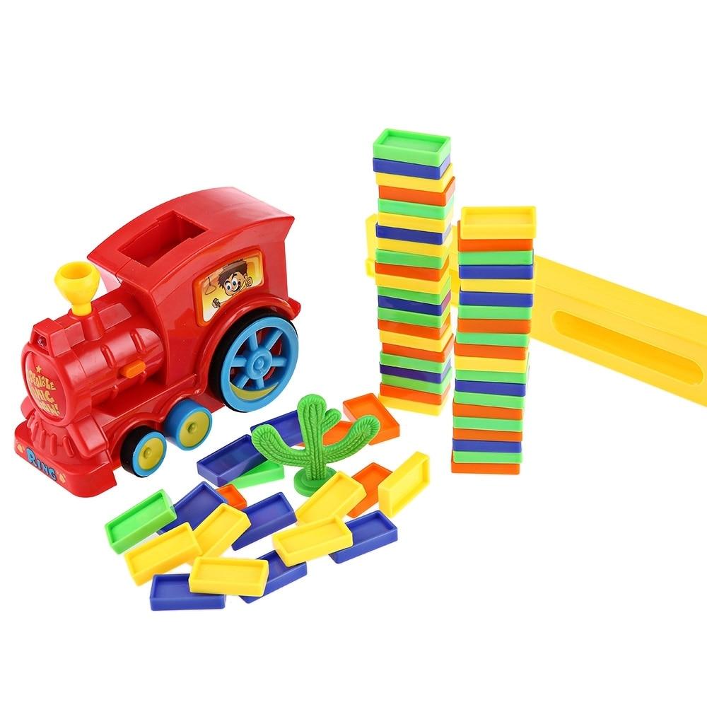 Classic 60pcs Domino Blocks Classic Toys Train Kit Motorized Domino Early Education Toy For Children Kid Birthday Christmas Gift