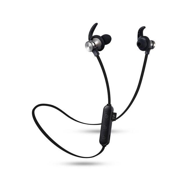 56e607976ad Leegoal Wireless Headphones Earphones Lightweight Ear Magnetic Waterproof  Sports Bluetooth Headset Support SD/TF Card with Mic