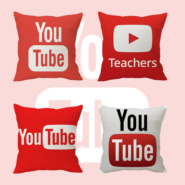 """Wellcomics 16 """"дюймов вы тюбик YouTube социальных медиа Наволочка Чехол Dakimakura подушка домашний декор Косплей Костюм"""