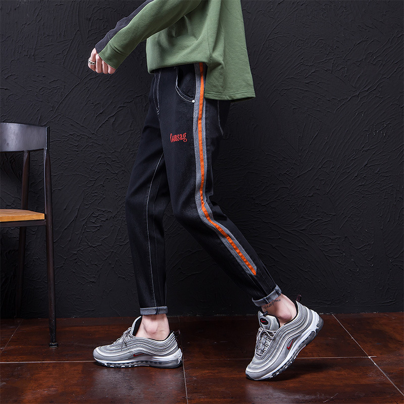 #2815 Male Easy Autumn Will Code Haren Pants Degree Of Tightness Man Pants Four Seasons Fund Elastic Force Bound Feet Male Pants