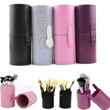 1PCS Travel PU Leather Cosmetic Brush Pen Holder Storage Empty Holder Makeup Box Make Up Artist Bag Make Up Tools 4 Colors Hot(China)