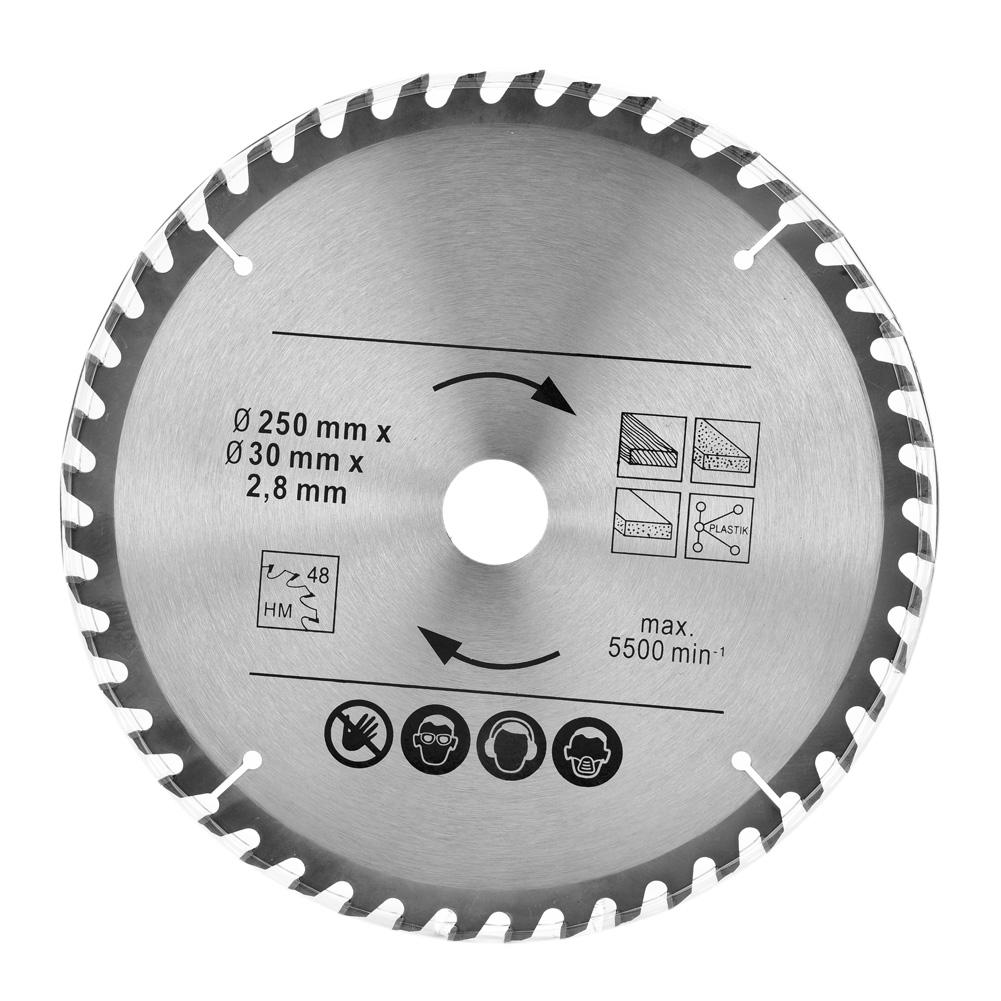 2 Pice Circular Saw Blade 250mm 48T & 60T TCT Saw Disc Blade 30mm Bore Carbide Alloy Saw Blade Disc 2019 New