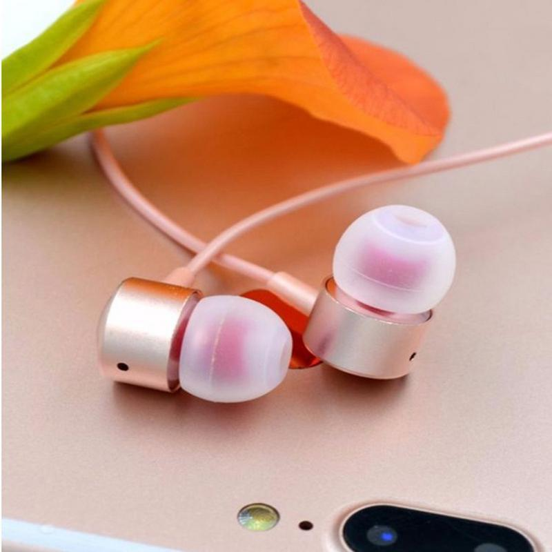Wired Earphone Bass Wheat Mobile Phone For Computer Male Female K Song Function High Definition Sound Quality Gold Silver Black image