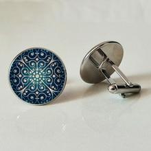 Christmas snowflake glass Cufflinks Photo of the whole family men Jewelry Pendant Handmade customized
