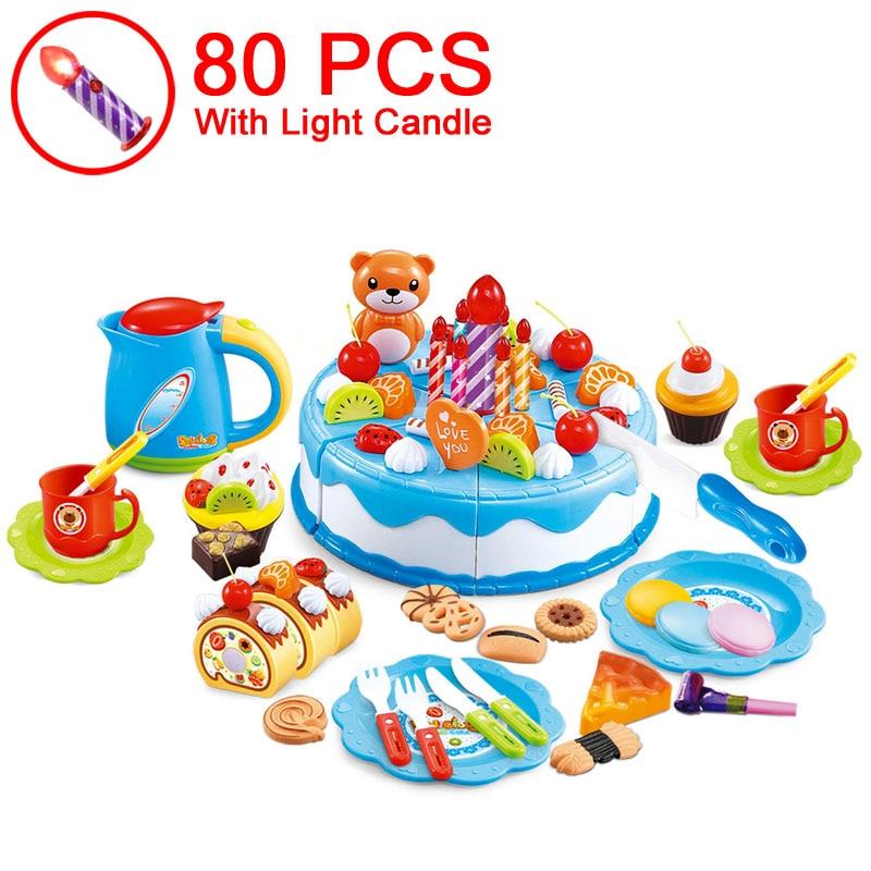 37-80pcs DIY sadje rezanje pretvarjajte se rojstnodnevno torto - Igra igranja vlog - Fotografija 3