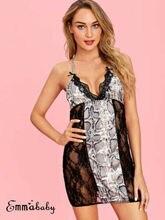 US Fashion Sexy Lingerie Lace Dress Babydoll Women Underwear Nightwear Sleepwear