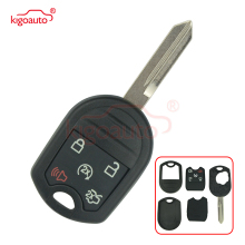 Kigoauto Remote key case shell 5 button for 2012 - 2015 FORD KEYLESS ENTRY REMOTE HEAD KEY W/ REMOTE START OUCD6000022 2005 2011 ford five hundred 4 four button keyless entry remote free programming included