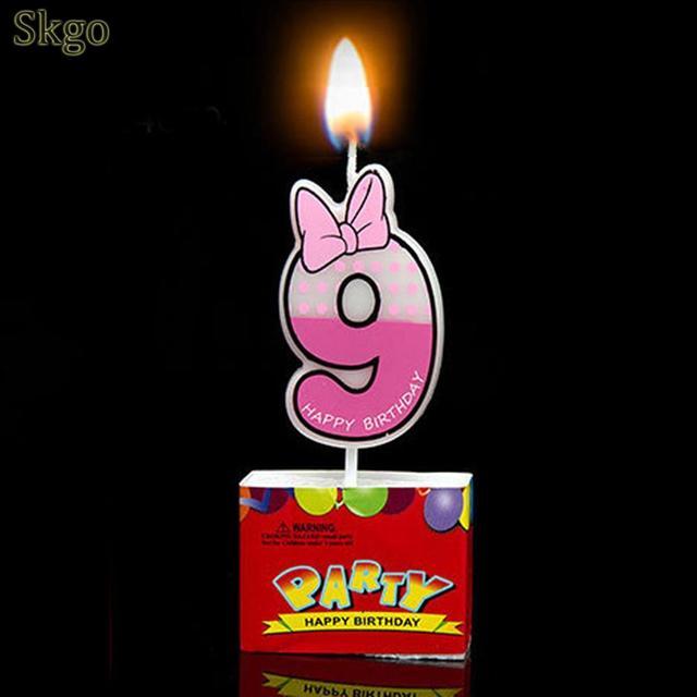 Số Chuột hình ảnh Trang Trí Bánh 9 Bên Ngọn Nến Cupcake hiển thị Phim Hoạt Hình Sinh Nhật 0 Như các